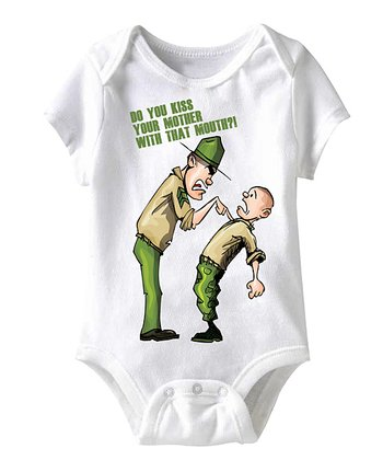 White 'You Kiss Your Mother With That Mouth?' Bodysuit - Infant