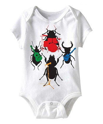 White Beetles Bodysuit - Infant