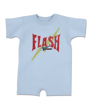 Light Blue 'Flash' Romper - Infant