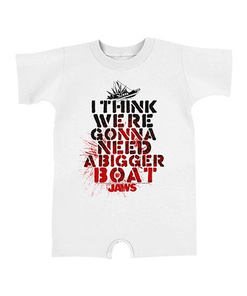 White 'Need a Bigger Boat' Romper - Infant
