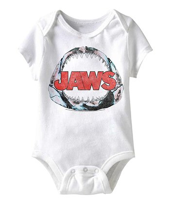 White 'Jaws' Fossil Bodysuit - Infant