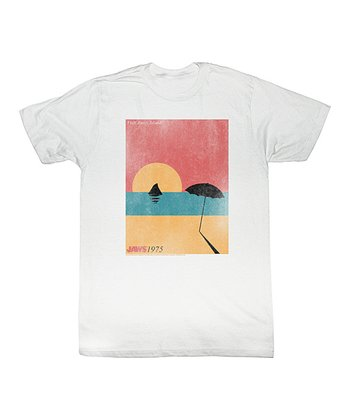 White 'Jaws' Beach Painting Tee - Toddler & Kids