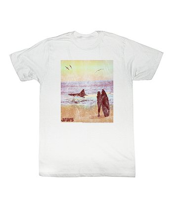 White 'Jaws' At the Shore Tee - Toddler & Kids