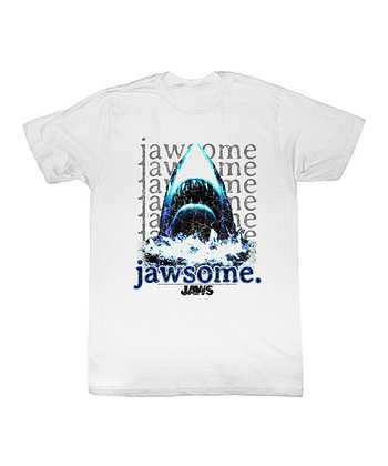 White 'Jawsome' Tee - Toddler & Kids
