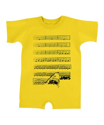Yellow 'Jaws' The Musical Romper - Infant