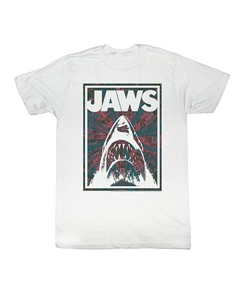 White 'Jaws' Retro Firework Tee - Toddler & Kids