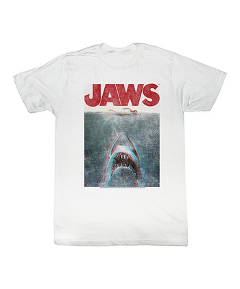 White 'Jaws' From Below Tee - Toddler & Kids