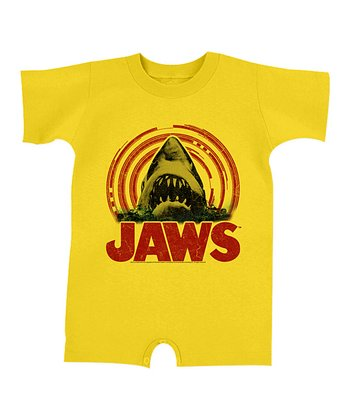 Yellow & Red 'Jaws' Wave Romper - Infant