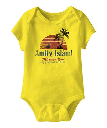 Yellow 'Amity Island Welcomes You' Bodysuit - Infant
