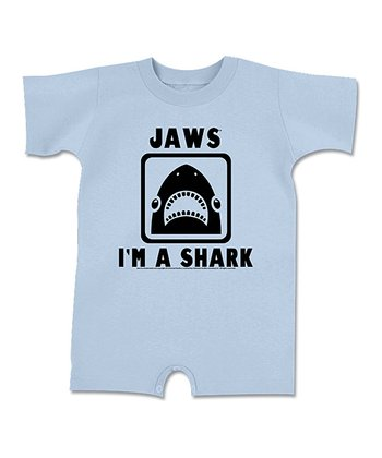 Light Blue Jaws 'I'm a Shark' Romper - Infant