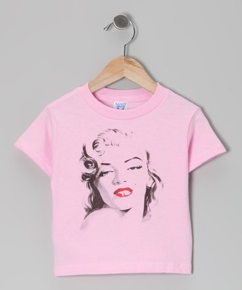 Light Pink Marilyn Red Rouge Tee - Toddler & Kids