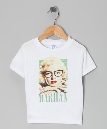 White 'Marilyn' Hipster Tee - Toddler & Kids