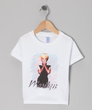 White Marilyn Black Dress Tee - Toddler & Kids