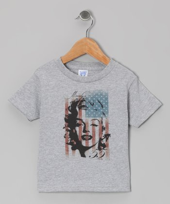 Gray Marilyn American Flag Tee - Toddler & Kids