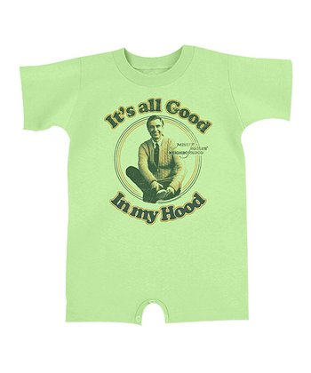 Key Lime 'It's All Good in My Hood' Romper - Infant