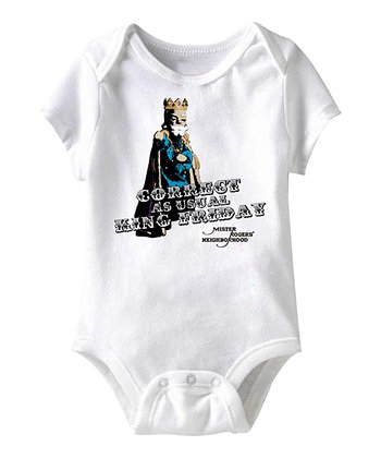 White 'Correct as Usual King Friday' Bodysuit - Infant