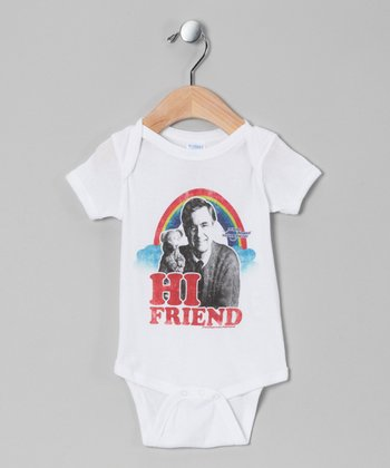 White Mr. Rogers 'Hi Friend' Bodysuit - Infant