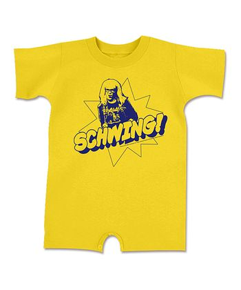 Yellow 'Schwing!' Romper - Infant
