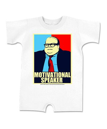White 'Motivational Speaker' Romper - Infant
