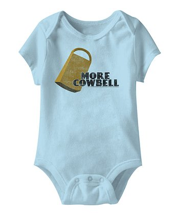 Light Blue 'More Cowbell' Bodysuit - Infant