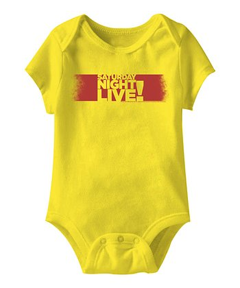 Yellow 'Saturday Night Live!' Bodysuit - Infant