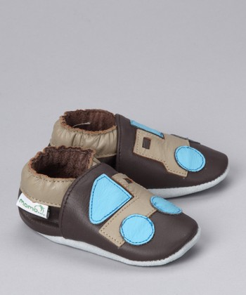 MOMO Baby Brown Truck Booties