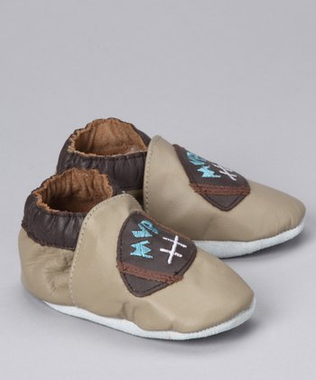 MOMO Baby Taupe Football Booties