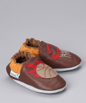Brown Basketball Bootie