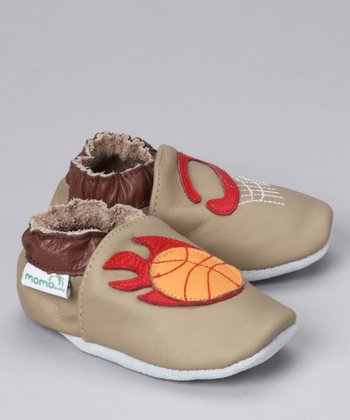Taupe Basketball Booties