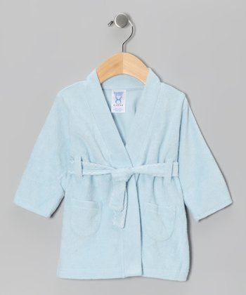 Blue French Terry Robe