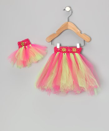 Pink & Green Tutu & Doll Tutu - Infant, Toddler & Girls