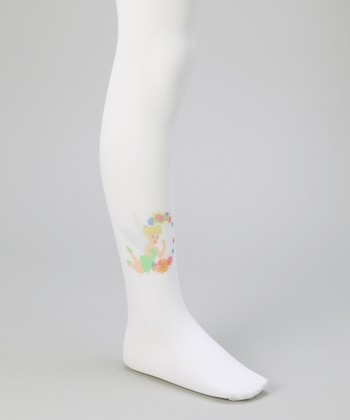 White Tinker Bell Tights - Girls