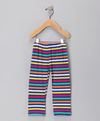 Cranberry Stripe Pants - Girls
