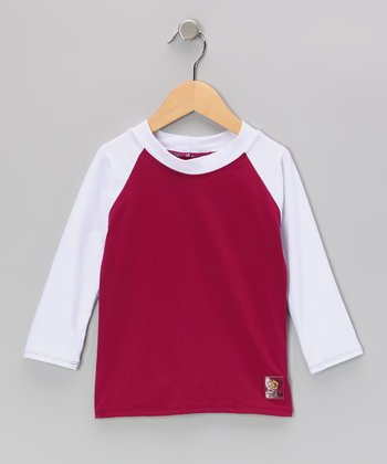 White & Berry Long-Sleeve Rashguard - Infant, Toddler & Kids