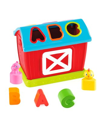 Red & Blue Barnyard Fun Shape Sorter Set