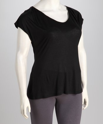 Tua Plus Black Plus-Size Top