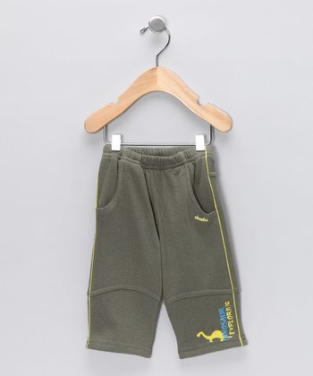 Olive Dino Pants - Infant, Toddler & Boys