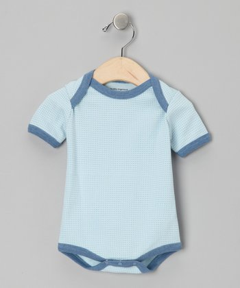Blue Pin Dot Organic Bodysuit