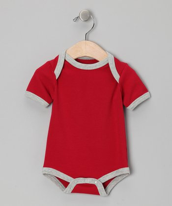 Burgundy & Gray Organic Bodysuit