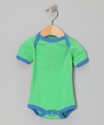 Green & Blue Organic Bodysuit