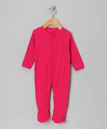Fuchsia Organic Footie - Infant