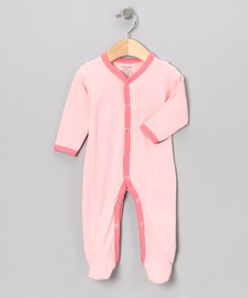 Pink & Fuchsia Organic Footie - Infant
