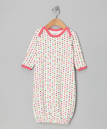 White Polka Dot Organic Gown