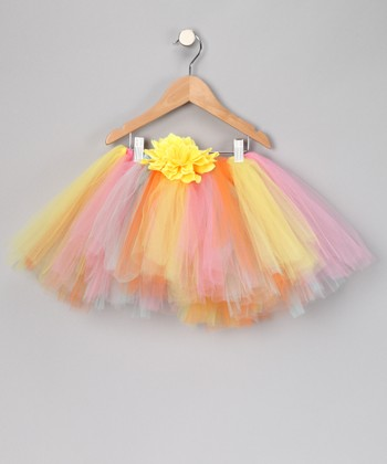 Orange & Yellow Birthday Tutu & Clip