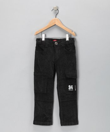 Black Cargo Corduroy Pants - Toddler & Boys