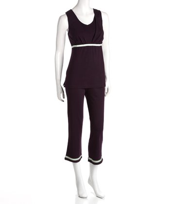 Plum Maternity & Nursing Lounge Tank & Pants