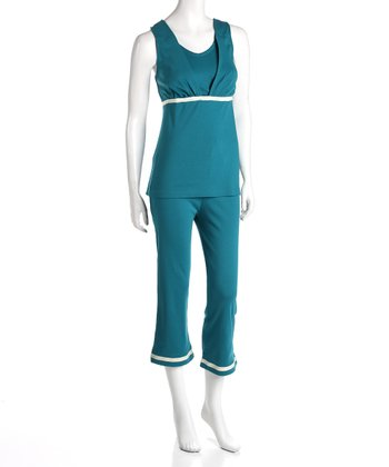 Nurturewear Teal Maternity & Nursing Lounge Tank & Pants