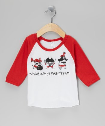 Red 'So Mainstream' Raglan Tee - Kids
