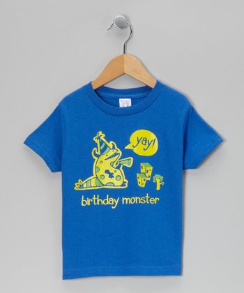 Royal 'Birthday Monster' Tee - Toddler & Boys