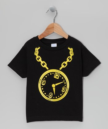 Black Flavor Flav Clock Tee - Infant, Toddler & Boys